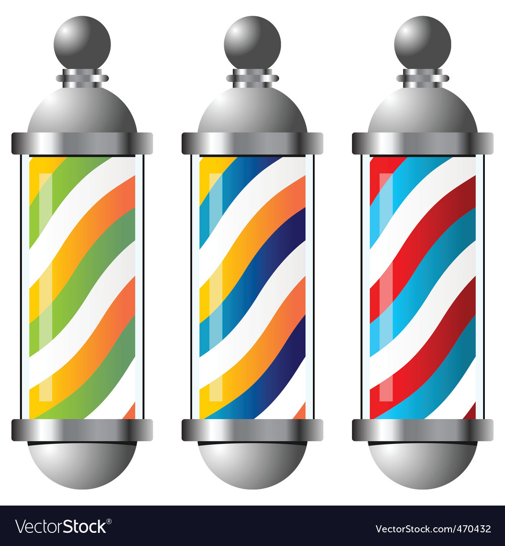 Barbers pole set vector | Price: 1 Credit (USD $1)