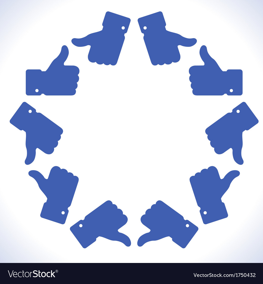 Blue star thumb up icons vector | Price: 1 Credit (USD $1)