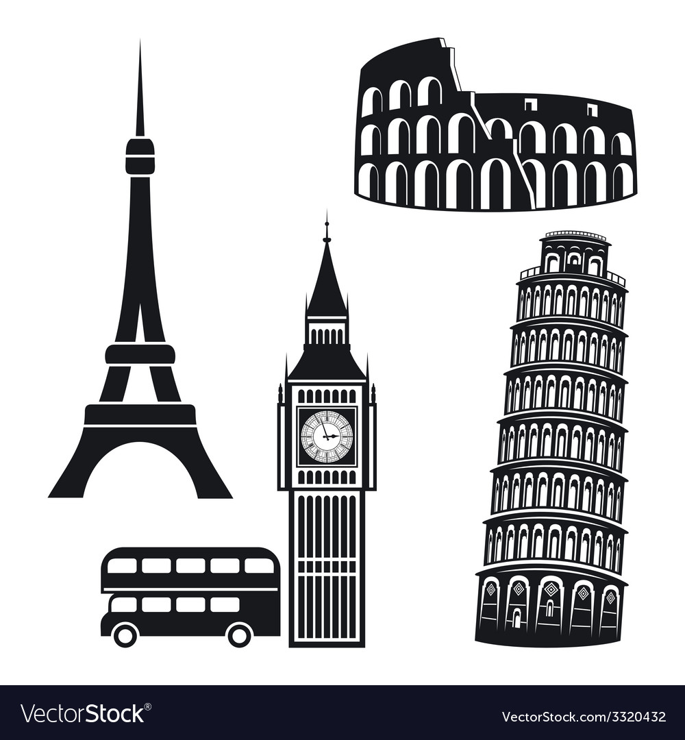 Cities symbols vector | Price: 1 Credit (USD $1)