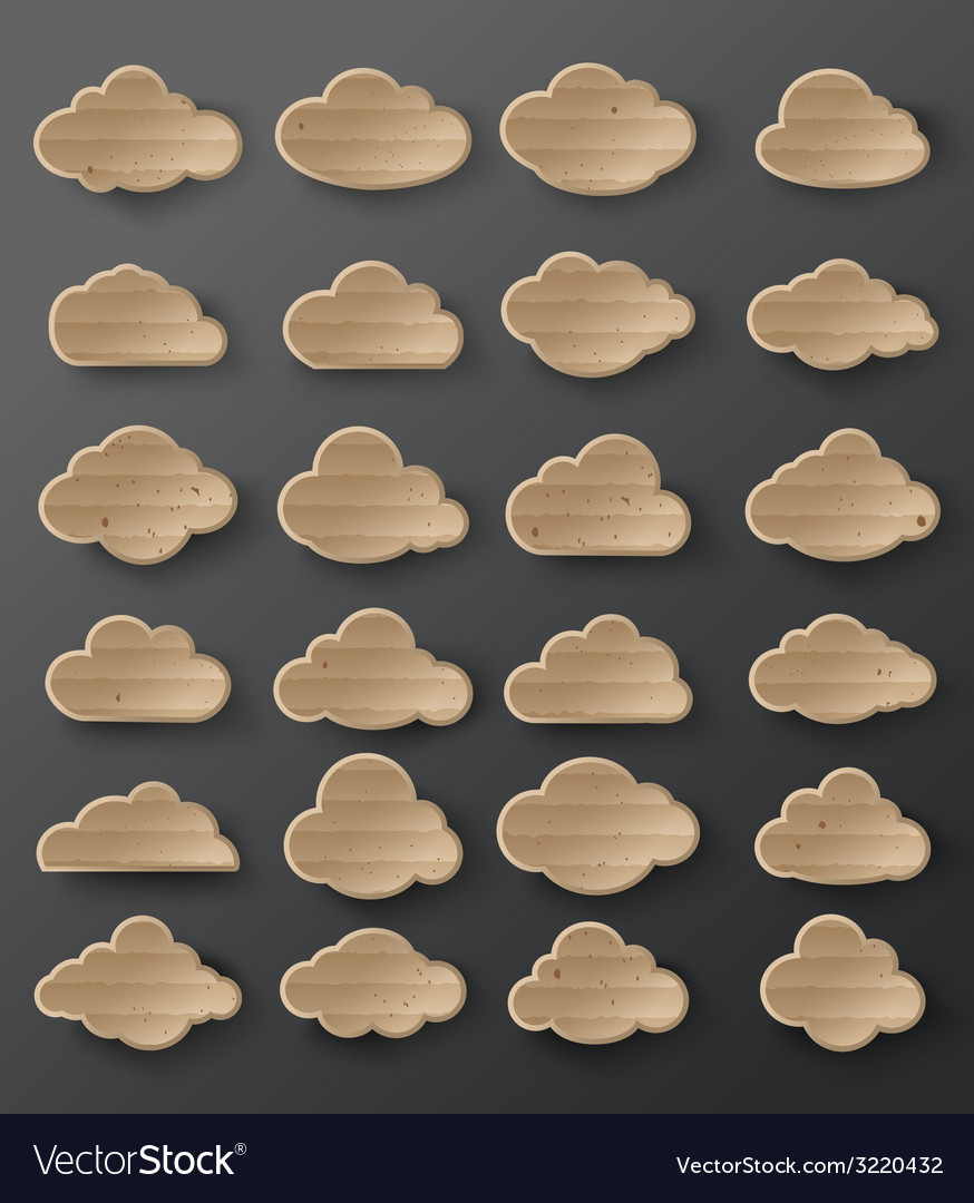 Clouds cardboard vector | Price: 1 Credit (USD $1)