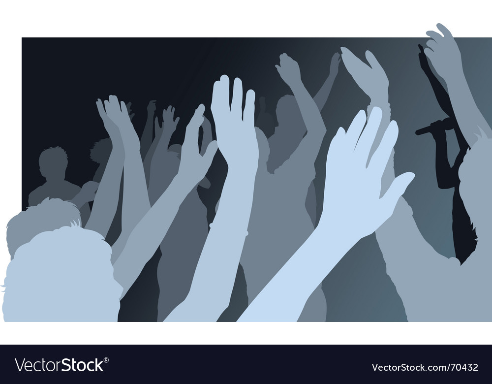 Crowd with waving people vector | Price: 1 Credit (USD $1)