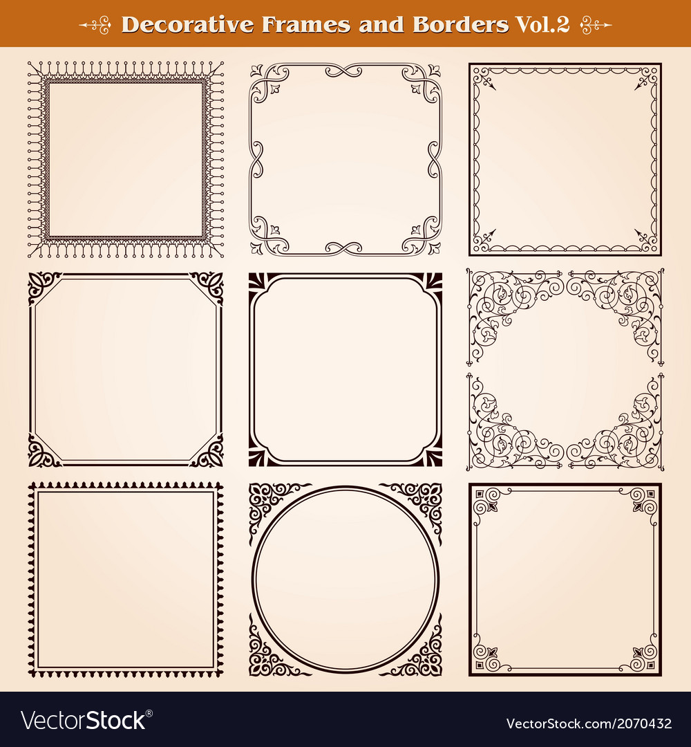 Decorative frames and borders vector | Price: 1 Credit (USD $1)
