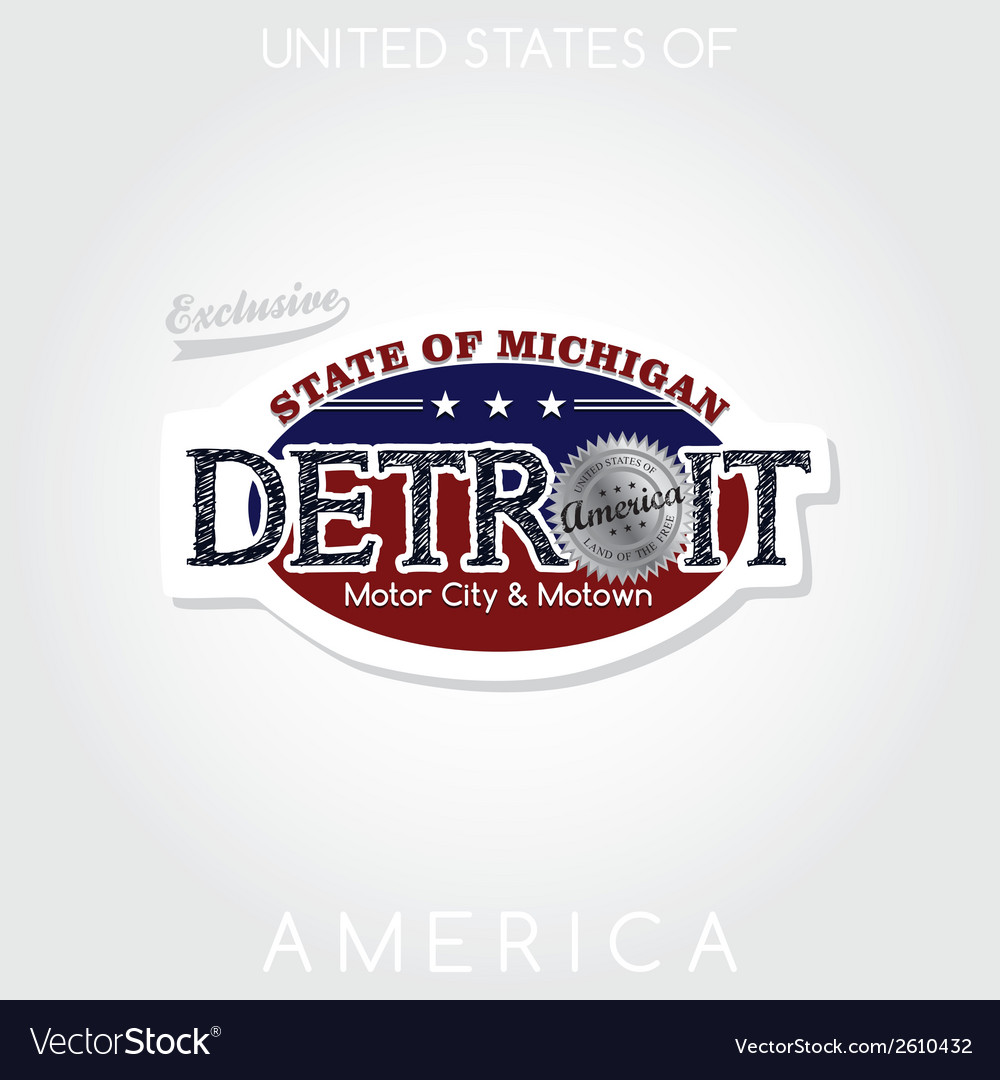 Detroit vector | Price: 1 Credit (USD $1)