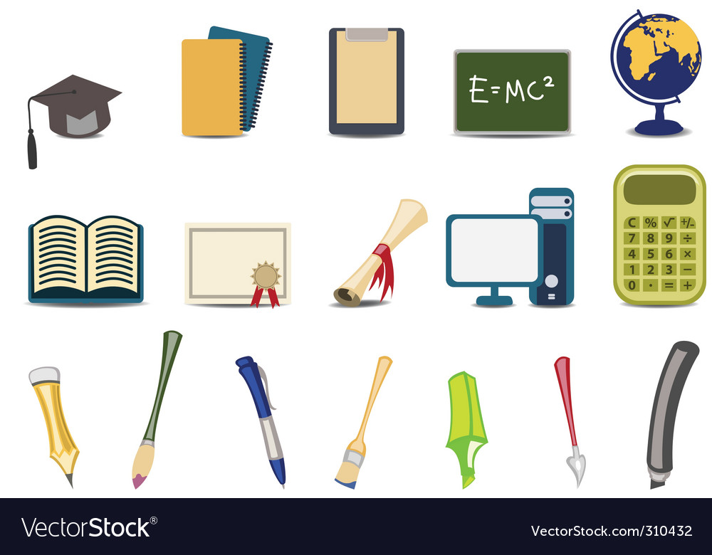 Educational icons vector | Price: 3 Credit (USD $3)
