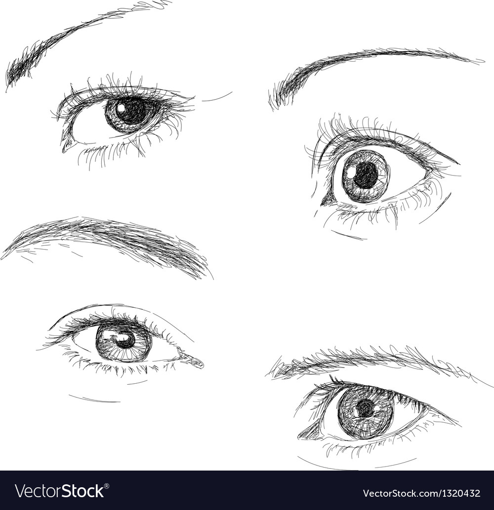 Hand drawn eyes vector | Price: 1 Credit (USD $1)