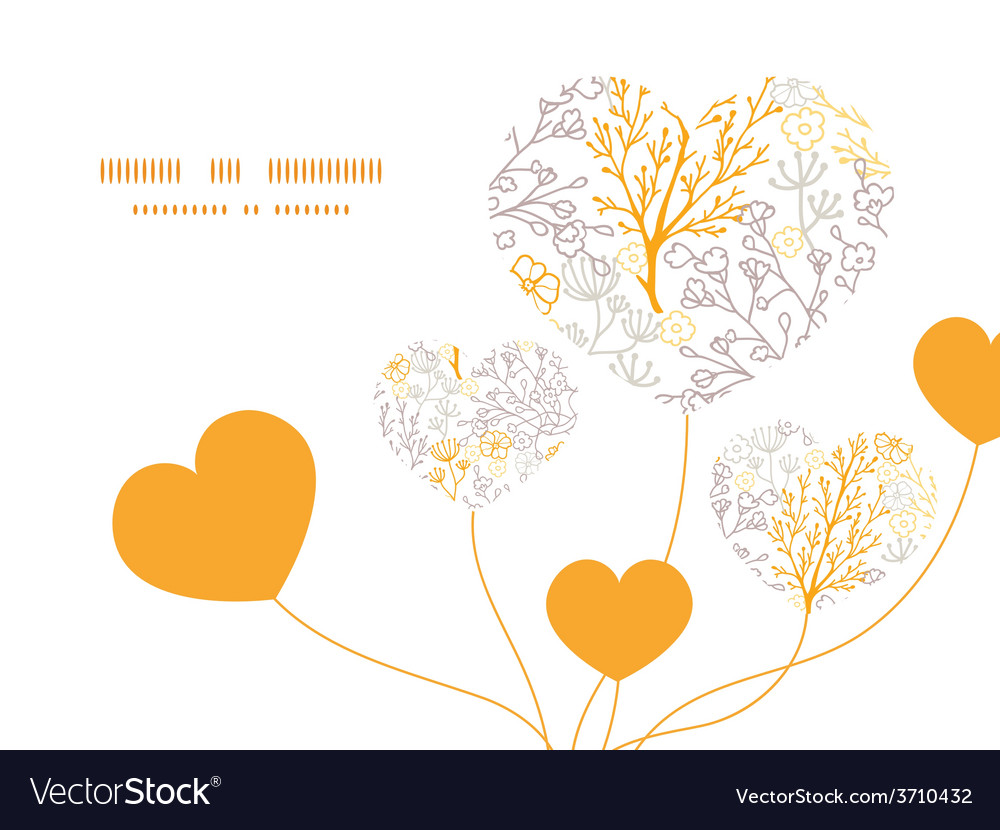 Magical floral heart symbol frame pattern vector | Price: 1 Credit (USD $1)