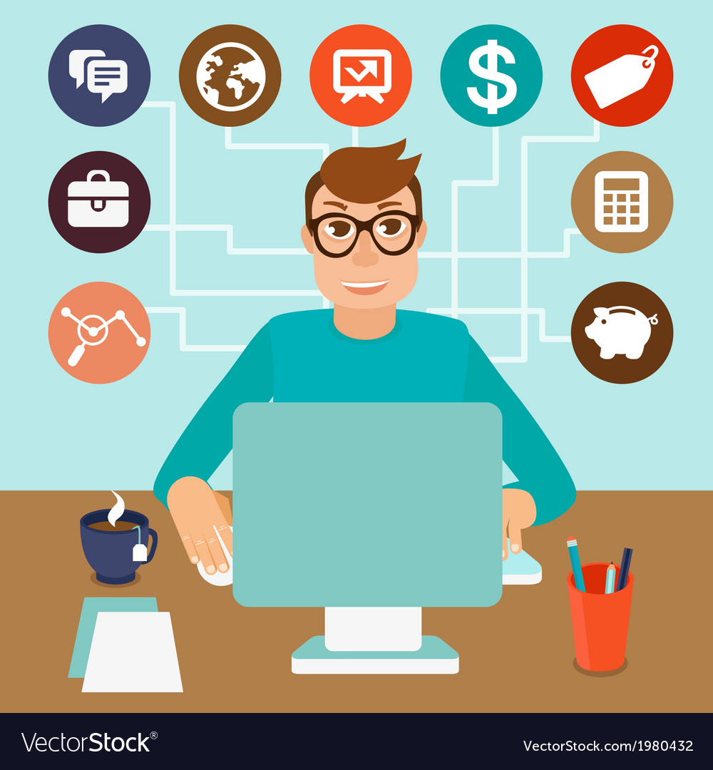 Self employed vector | Price: 1 Credit (USD $1)