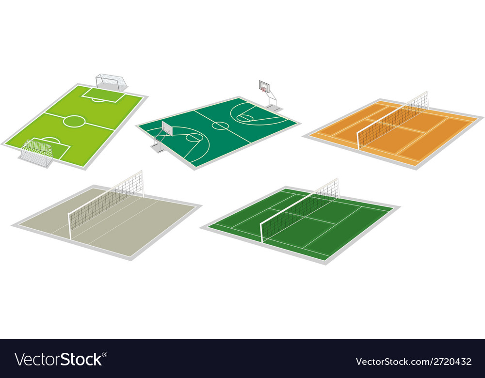 Set of courts vector | Price: 1 Credit (USD $1)