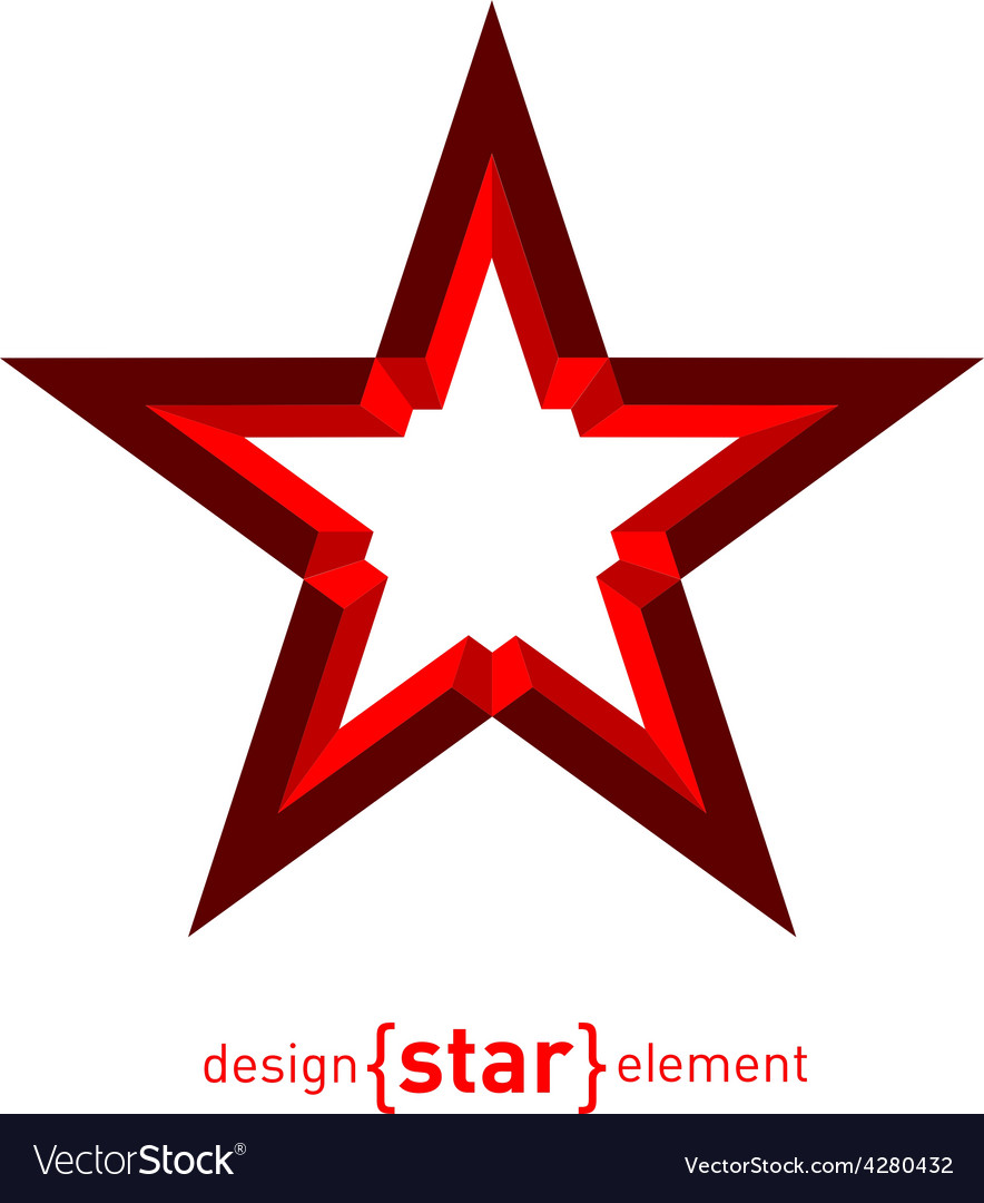 Star abstract design element vector   Price: 1 Credit (USD $1)