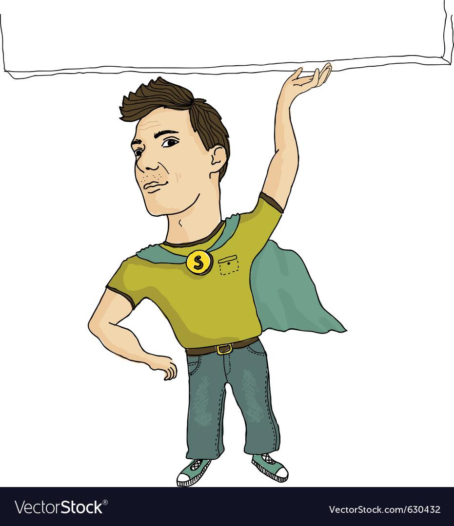 Super employee vector | Price: 1 Credit (USD $1)