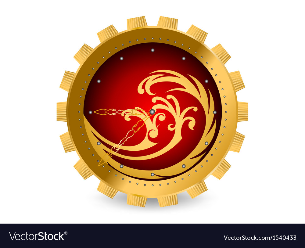 Abstract clock background vector