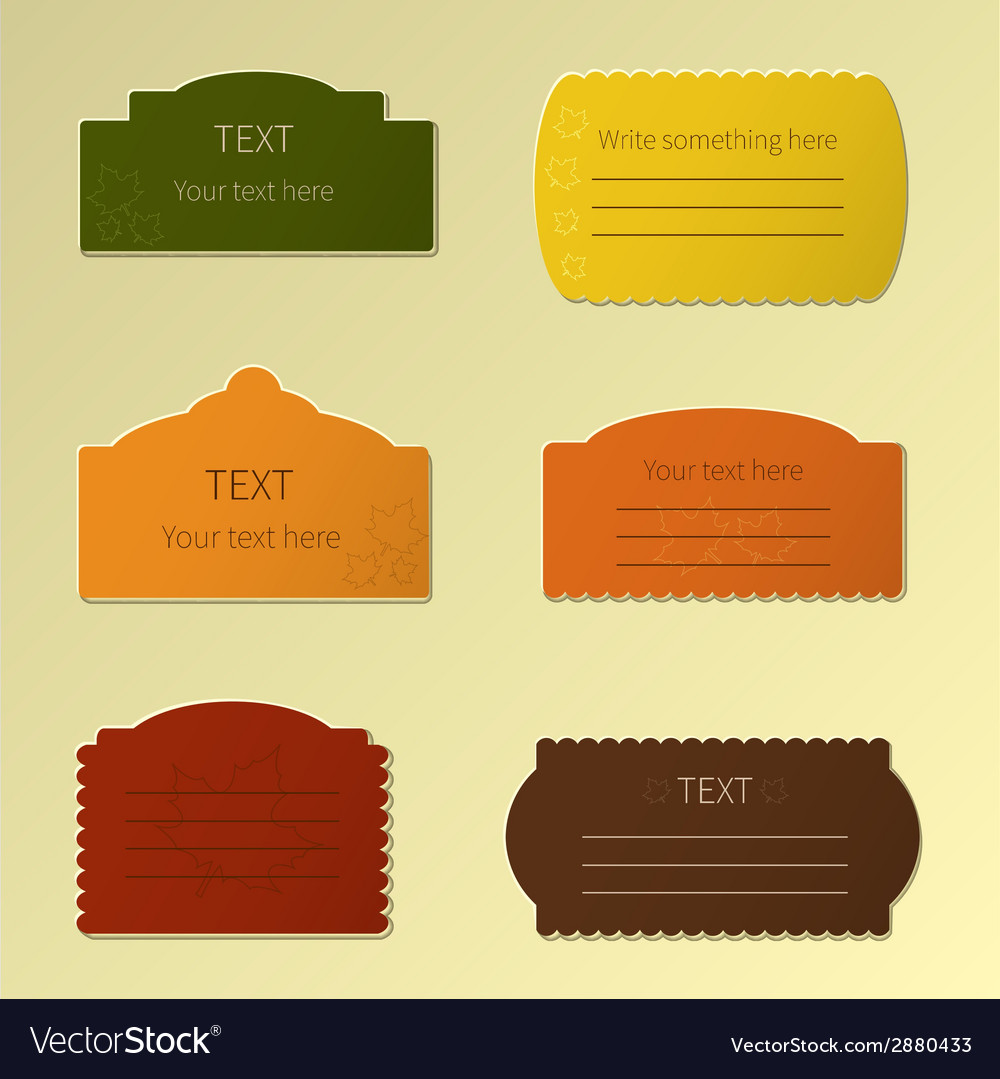 Autumn labels vector | Price: 1 Credit (USD $1)