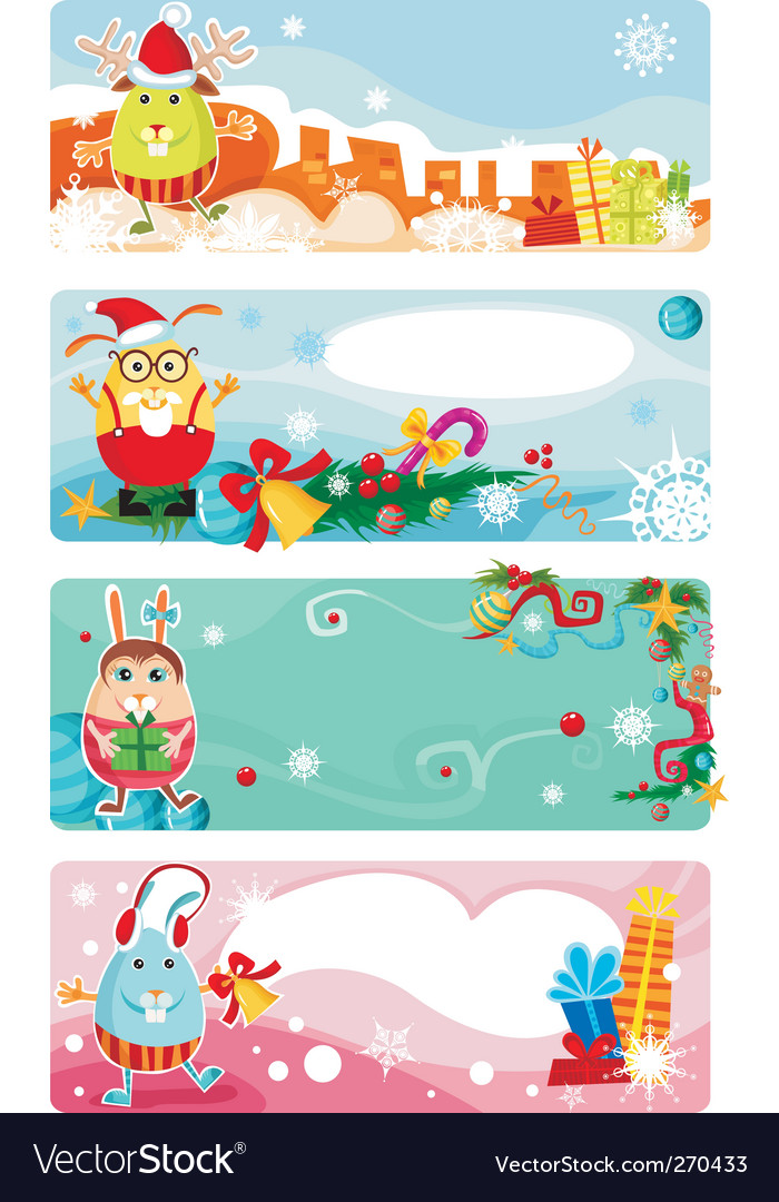 Christmas card set vector | Price: 3 Credit (USD $3)