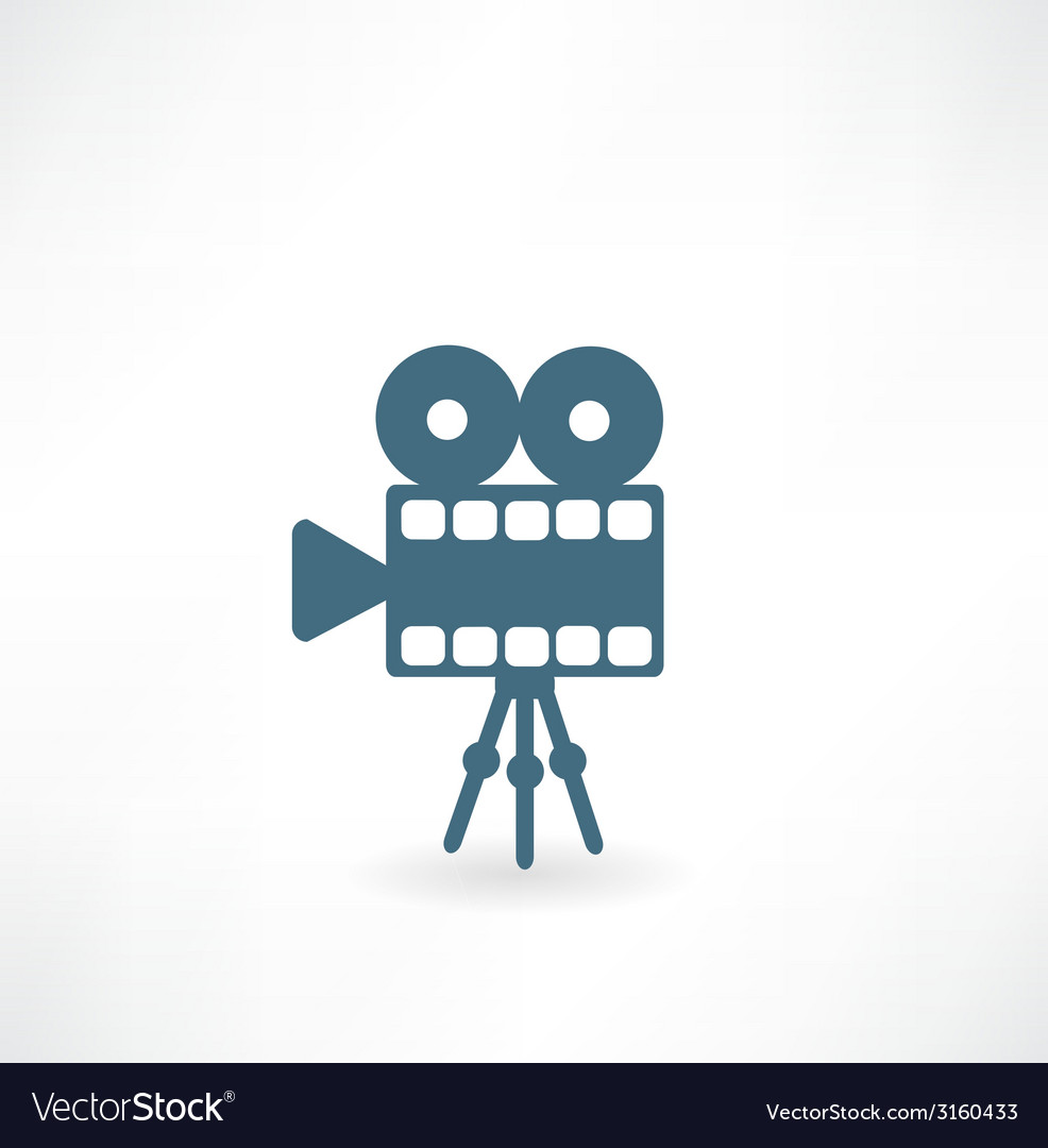 Cinema camera icon vector | Price: 1 Credit (USD $1)