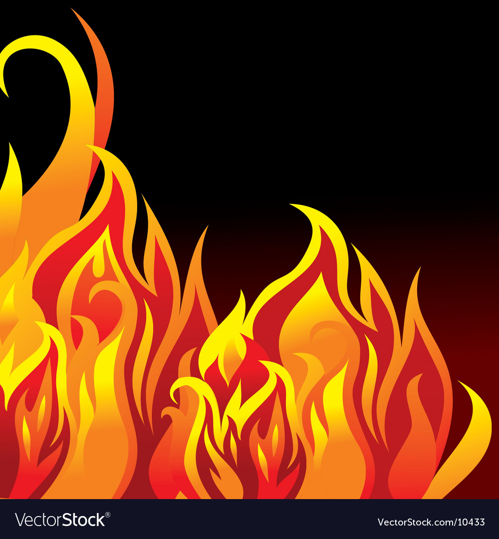 Fire background vector | Price: 1 Credit (USD $1)