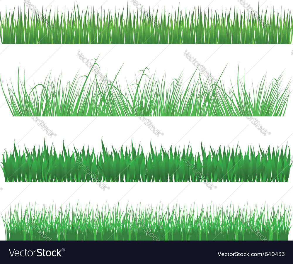 Green grass and field patterns vector | Price: 1 Credit (USD $1)