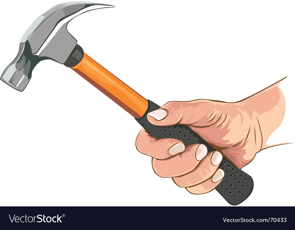 Hand with claw hammer vector | Price: 3 Credit (USD $3)