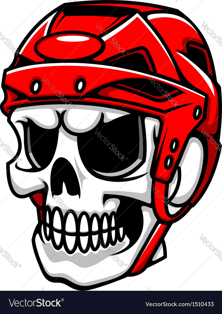 Skull in hockey helmet vector | Price: 1 Credit (USD $1)