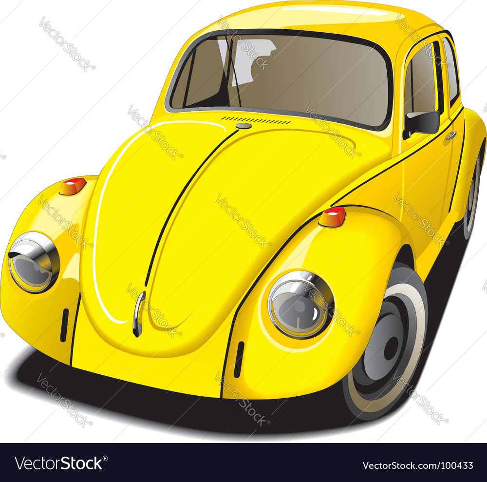Volkswagen beetle vector | Price: 3 Credit (USD $3)