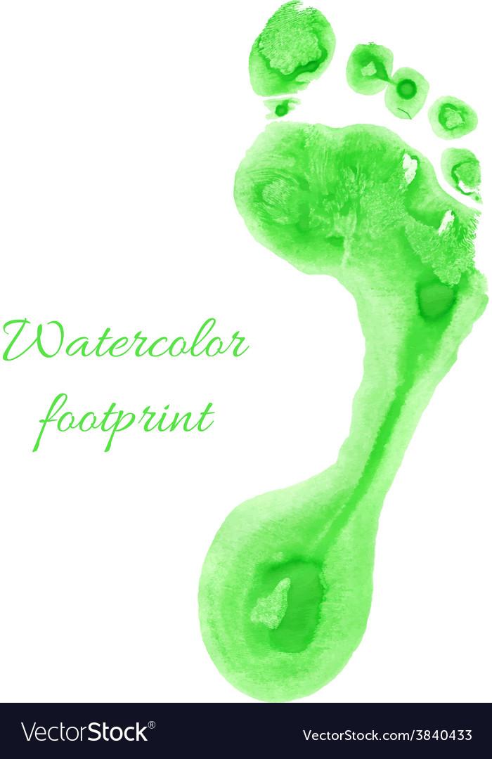 Watercolor children foot vector | Price: 1 Credit (USD $1)