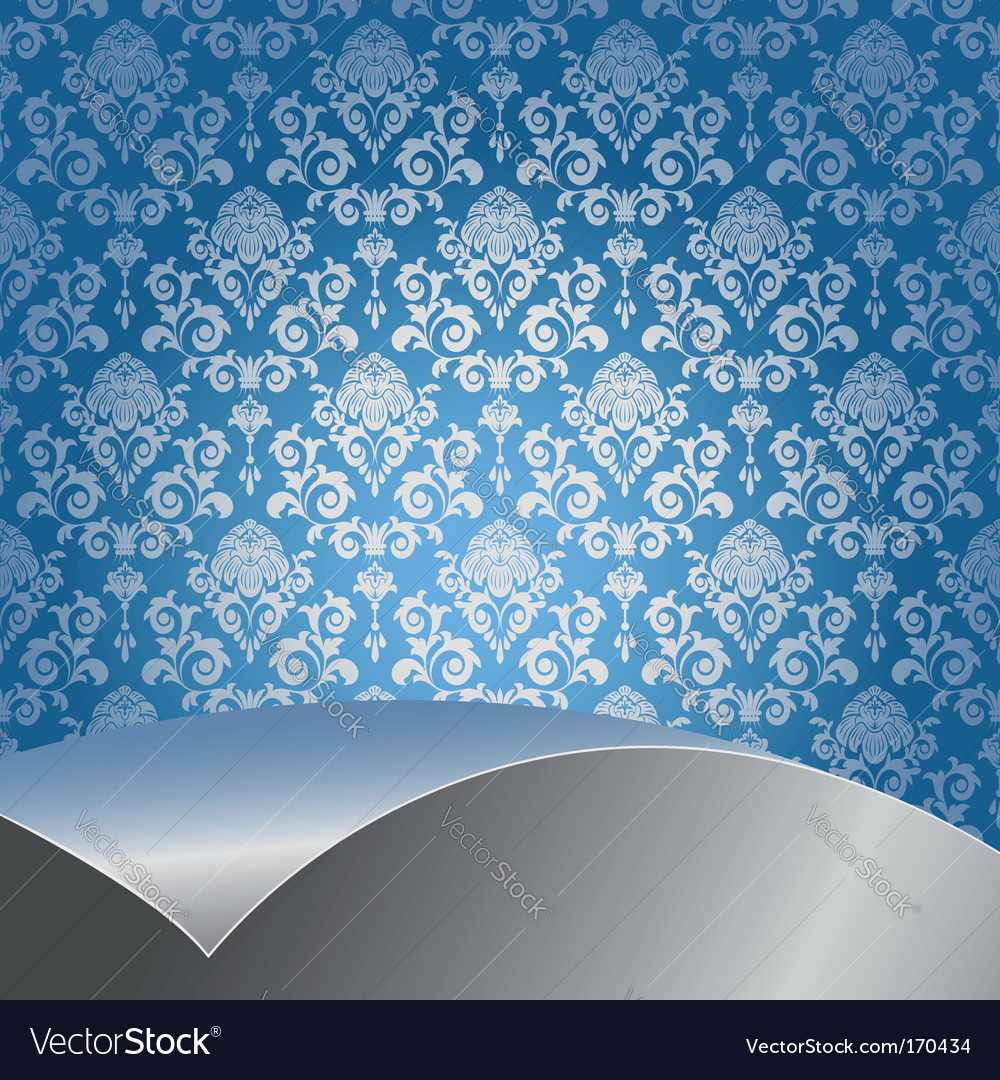 Blue and silver background vector | Price: 1 Credit (USD $1)