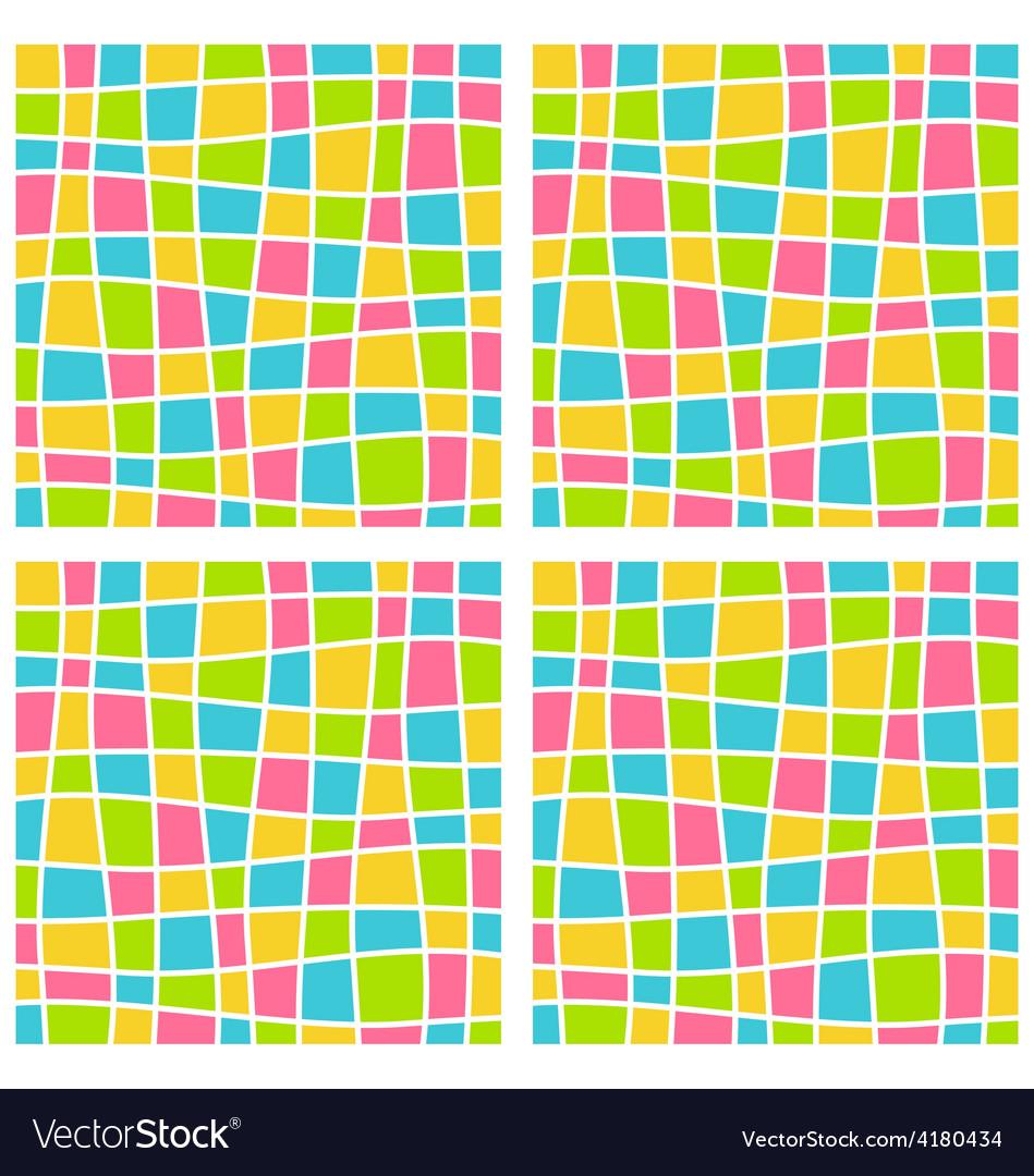 Bright mosaic seamless pattern vector   Price: 1 Credit (USD $1)