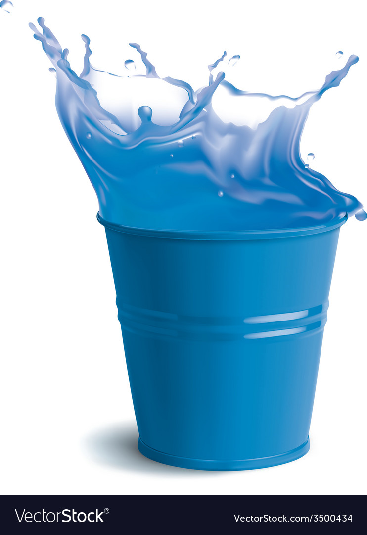 Bucket full of clear water vector | Price: 3 Credit (USD $3)