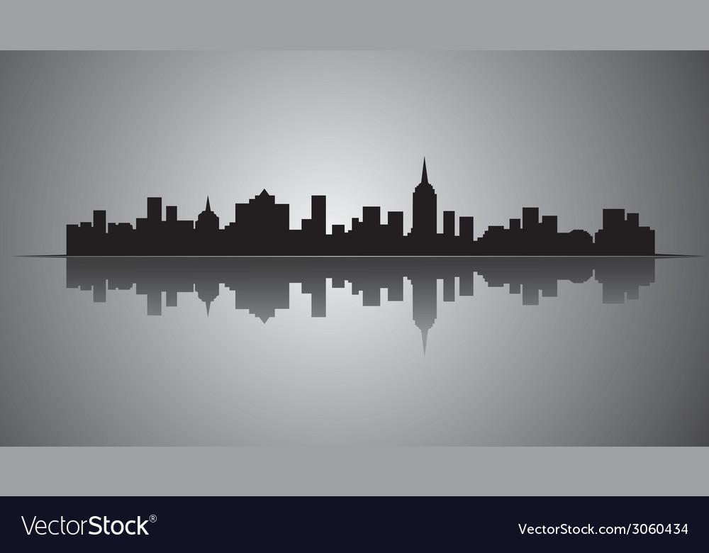 City silhouette vector | Price: 1 Credit (USD $1)