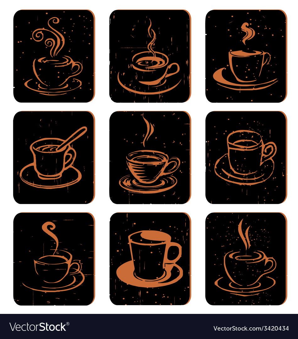 Coffee cup icon vector   Price: 1 Credit (USD $1)