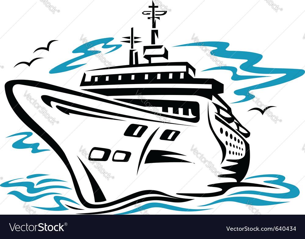 Cruise ship vector | Price: 1 Credit (USD $1)