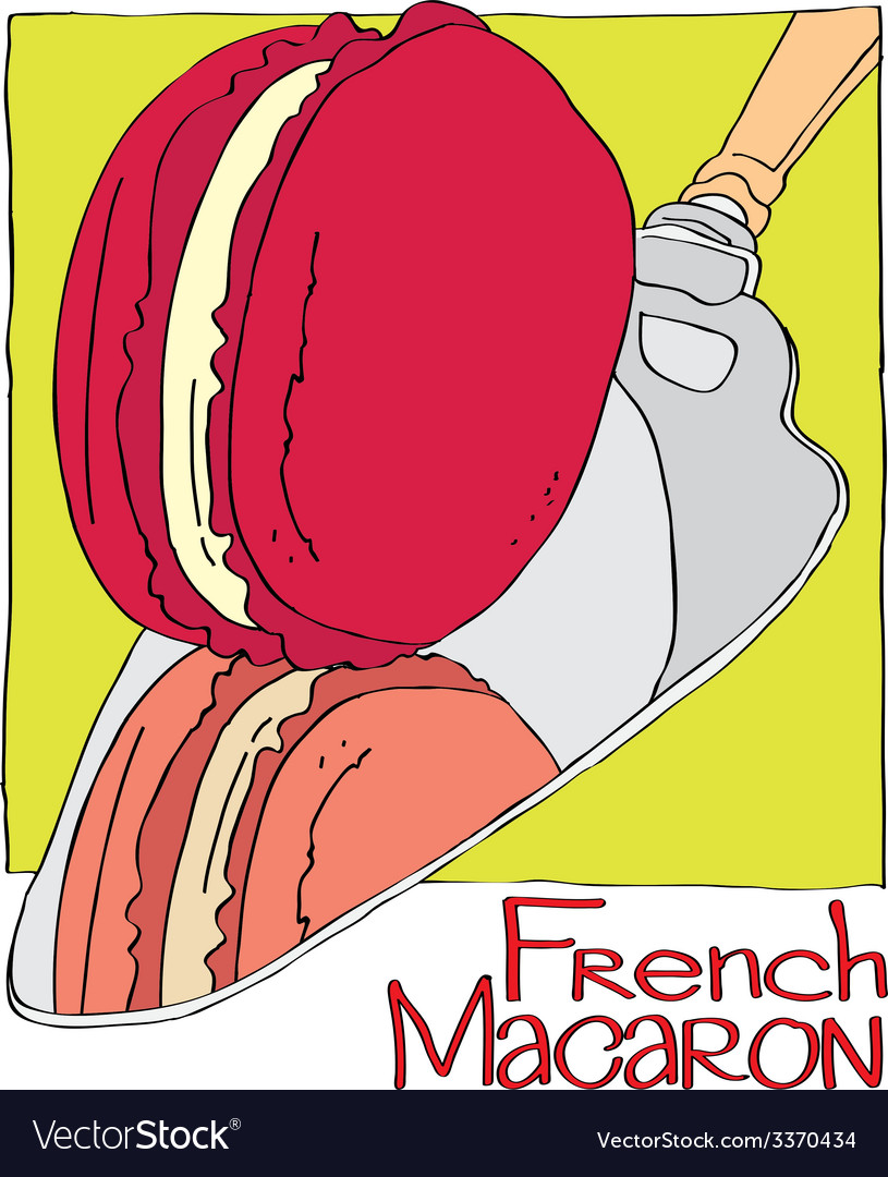 French macaron vector | Price: 1 Credit (USD $1)