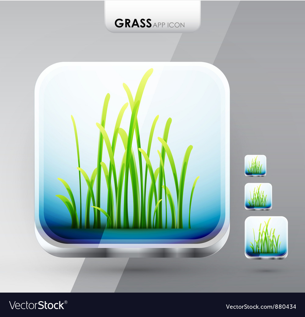 Grass app icons vector | Price: 1 Credit (USD $1)