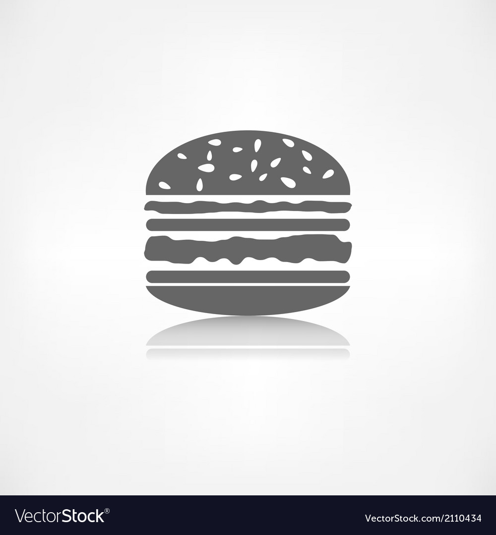 Hamburger web icon vector | Price: 1 Credit (USD $1)