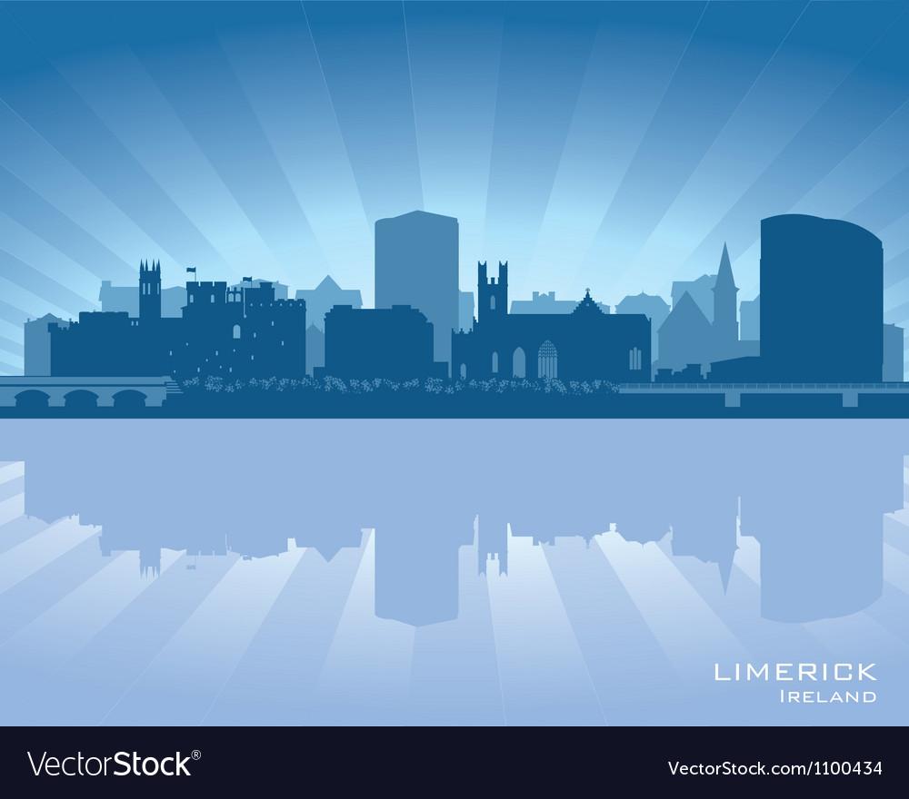 Limerick ireland skyline vector | Price: 1 Credit (USD $1)