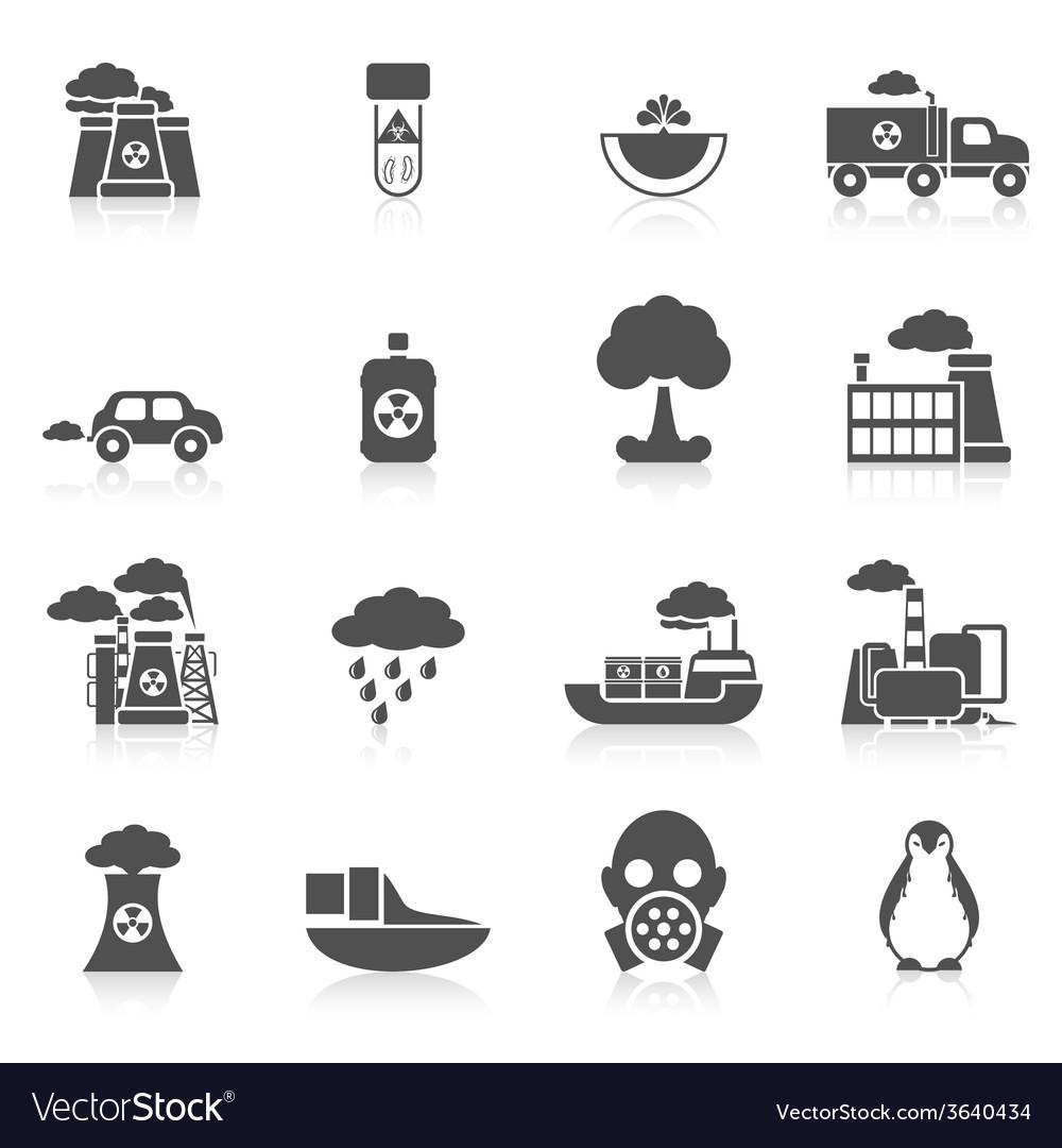Pollution icon black vector | Price: 1 Credit (USD $1)