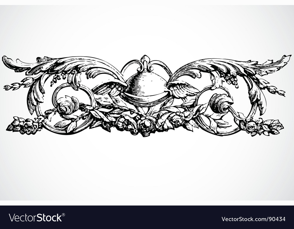 Wing ornament vector | Price: 1 Credit (USD $1)