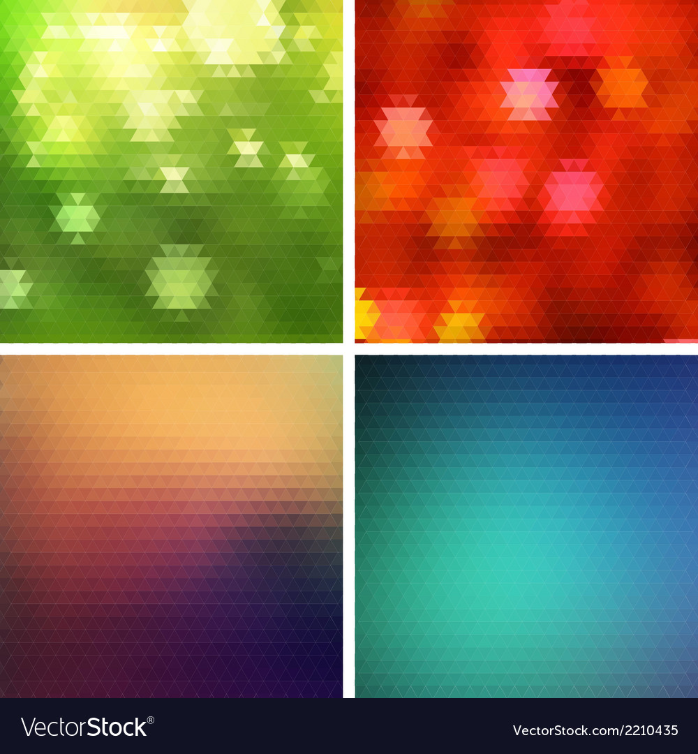 Abstract colorful triangle mosaic background vector | Price: 1 Credit (USD $1)