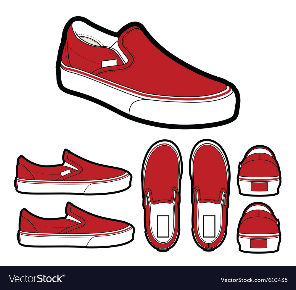 Classic slip on shoes vector | Price: 1 Credit (USD $1)