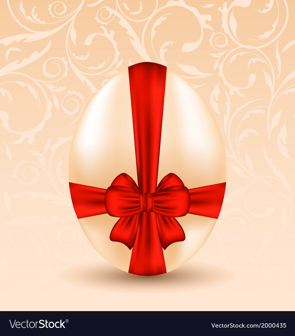 Easter celebration background with traditional egg vector | Price: 1 Credit (USD $1)