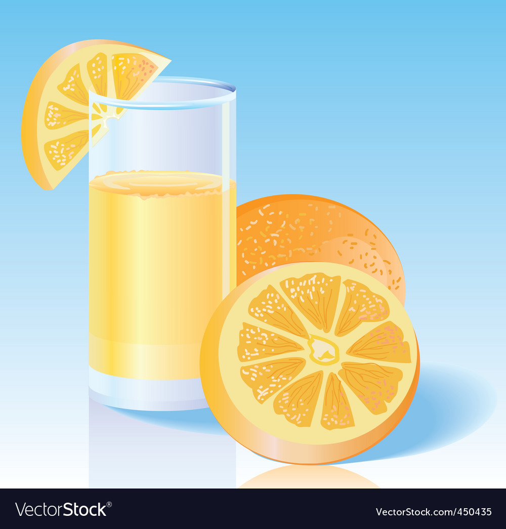 Fresh orange juice vector | Price: 1 Credit (USD $1)