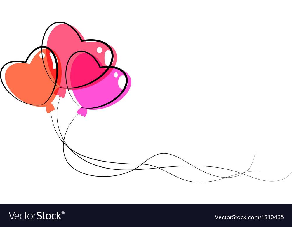 Heart balloon vector | Price: 1 Credit (USD $1)