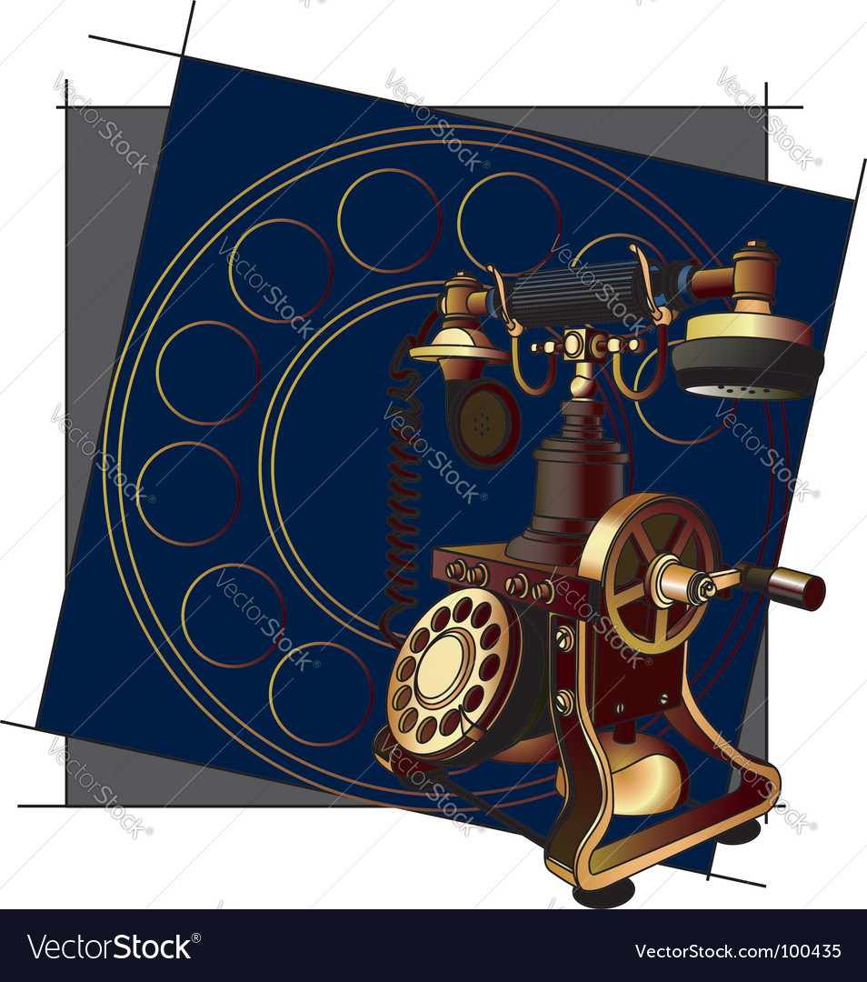Old style telephone background vector | Price: 3 Credit (USD $3)