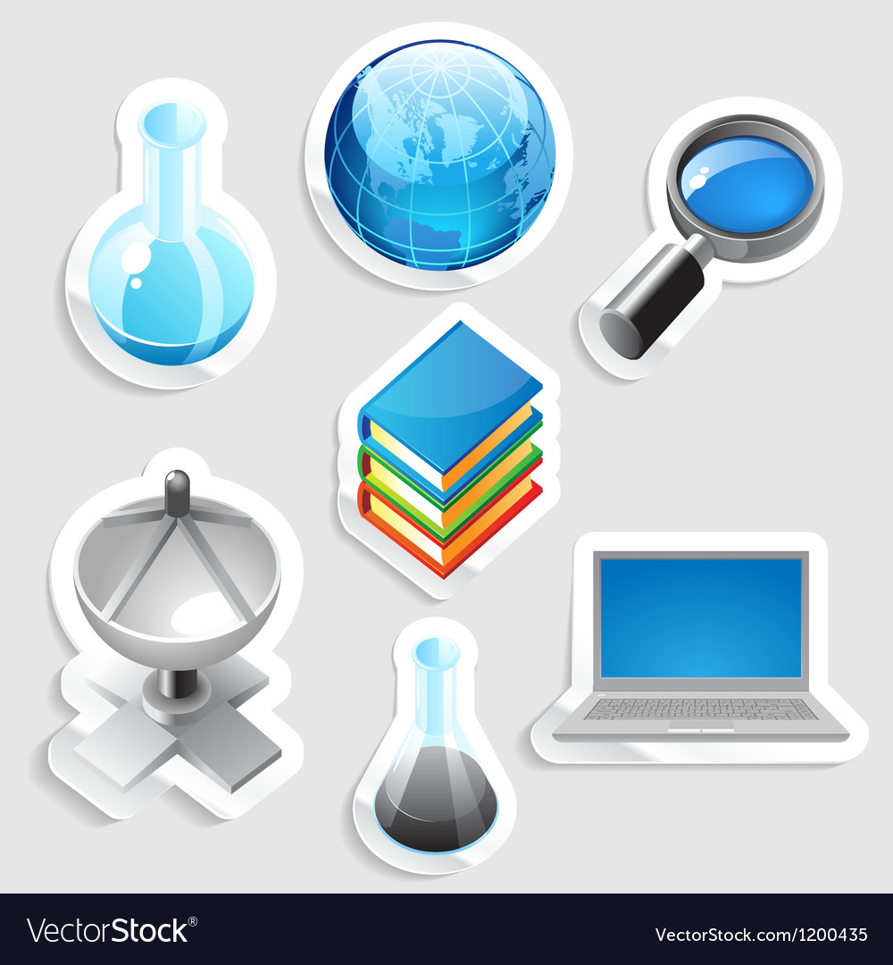 Sticker icon set for education vector | Price: 1 Credit (USD $1)