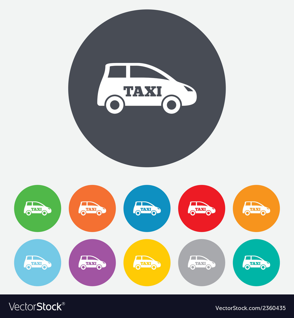 Taxi car sign icon hatchback symbol vector | Price: 1 Credit (USD $1)