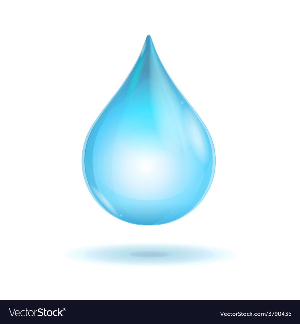 Water transparent drop vector | Price: 1 Credit (USD $1)
