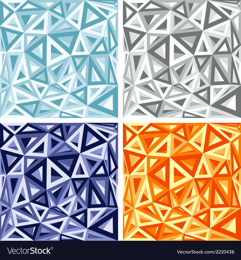 3d abstract colorful triangle background vector | Price: 1 Credit (USD $1)