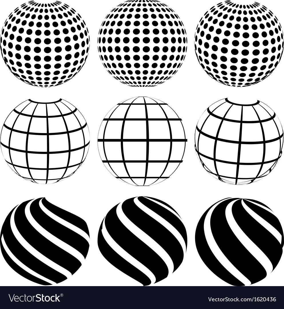 Abstract dotted sphere vector