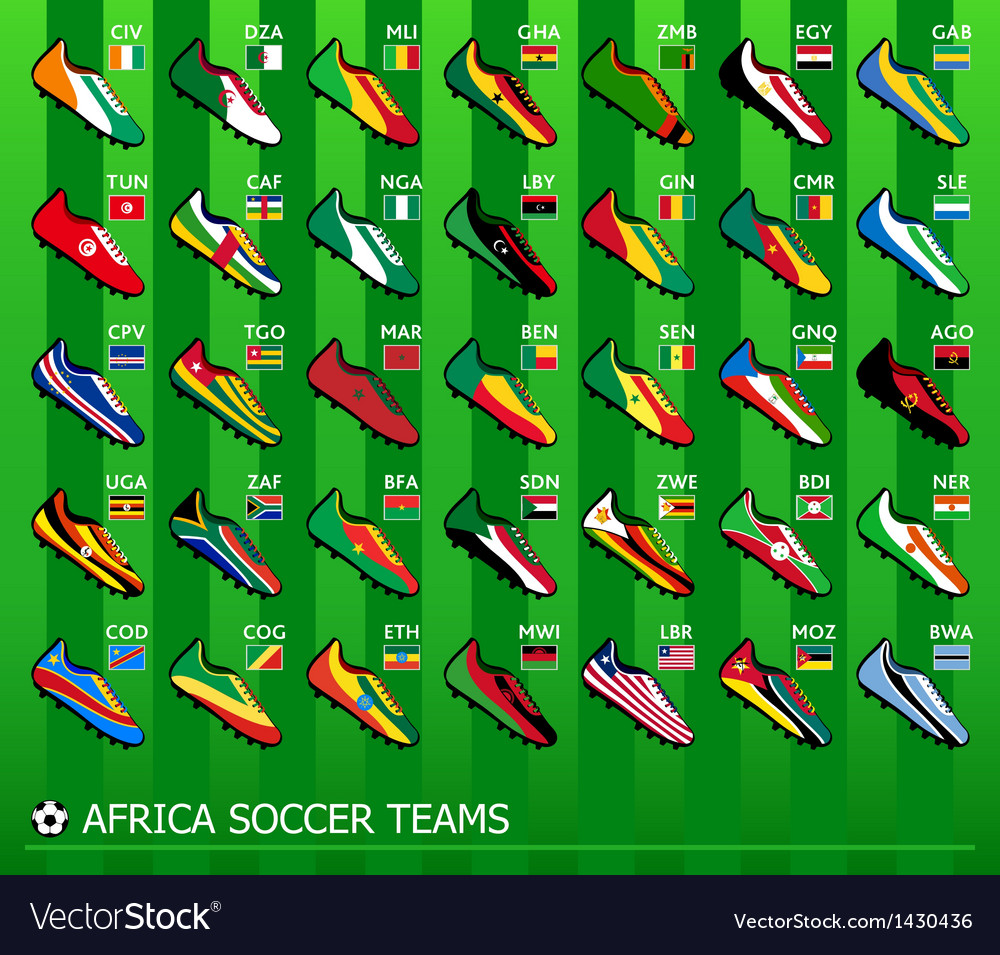 African soccer teams vector | Price: 1 Credit (USD $1)
