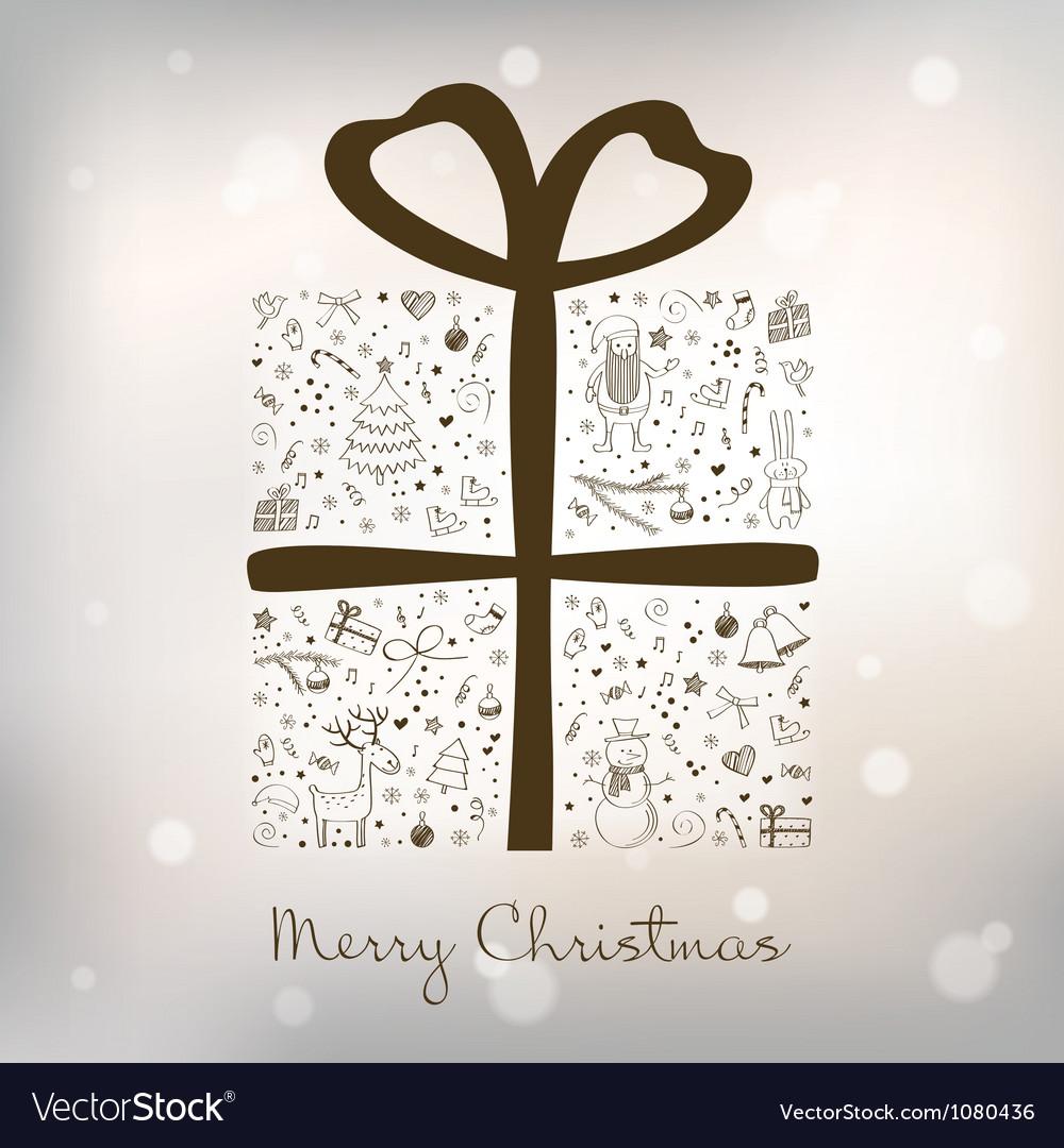 Christmas gift box vector | Price: 1 Credit (USD $1)