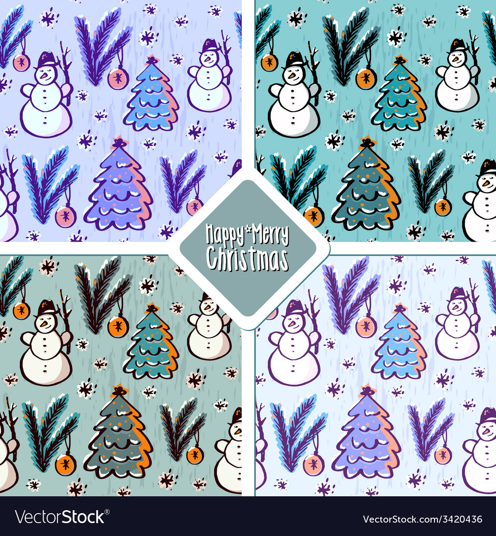 Christmas pattern set vector | Price: 1 Credit (USD $1)